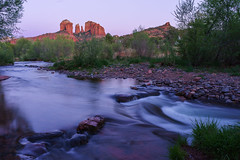 Cathedral Twilight (Ryan Moyer) Tags: sedona arizona cathedralrock landscape longexposure water twilight bluehour sunset rocks