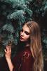 Eloquence (valen.romanovskaya) Tags: girl model fashion actress portrait portraiture garden park marsala scarlet red rose long hair blonde beauty beautiful black grey gray green kiev flower greens flowers style