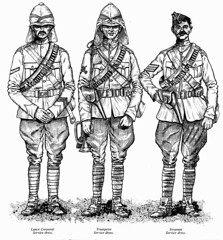 21st Lancers Corporal, Trumpeter & Sergeant Uniform (roydutton) Tags: dervish omdurman 21st lancers weapons forgotten heroes charge roy dutton trumpeter sergeant corporal uniform