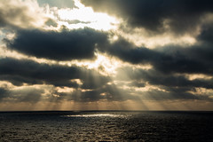 let there be light (-gregg-) Tags: clouds sunset ocean rays beautiful sun water cruise beams
