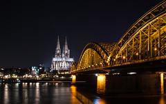Koeln_Dom (lotharmeyer) Tags: köln rhein hohenzollernbrücke nikon nachtaufnahme