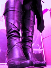purple (Nika) Tags: boots shoes purple