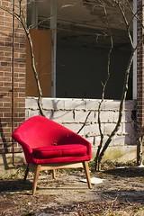 red_chair_courtyard - by Irina Souiki