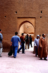 Tourists and locals in Marrakech