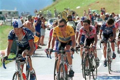 Lance Armstrong on La Plagne