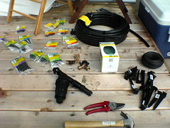 The drip irrigation setup (mathowie) Tags: diy whatsinyourbackyard houseprojects irrigation