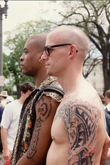 69.LGBT.MOW.25April1993 (Elvert Barnes) Tags: gay washingtondc dc protest bald glbt tattoos wdc 1993 pennsylvaniaavenue lgbt dcist protests baldmen thewhitehouse 1600pennsylvaniaavenue protestphotography april1993 exbsaintbp06 exbsaintbp06tattoostaboos 25april1993 marchonwashingtonforlesbiangayandbiequalrightsandliberation infrontofthewhitehouse northwestwashingtondc pennsylvaniaavenuenwwashingtondc 1600pennsylvaniaavenuenwwashingtondc 1600blockofpennsylvaniaavenuenwwashingtondc infrontofthewhitehouseproject elvertbarnesprotestphotography pennsylvaniaavenuenwwdc1993 pennsylvaniaavenue1993 april1993lgbtmow sunday25april1993lgbtmarchonwashingtonforlgbtequalrightsandliberation protestphotography1993 infrontofthewhitehouse1993 1600blockofpennsylvaniaavenuenwwdc1993