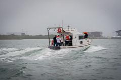 Entrega do barco para o CEM (ufpr) Tags: litoral cem mar pontal paraná barco estudos
