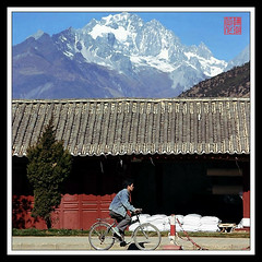 Bicycle@Yunnan (hk_traveller) Tags: china trip travel vacation bicycle canon square photo interestingness interesting asia flickr 300d 71 traveller explore turbo  top100 yunnan 97   douban top500 interestingness71 i500 turbophoto