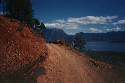 Lugu Lake road, Yunnan