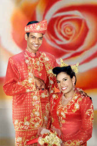 Traditional Red Songket