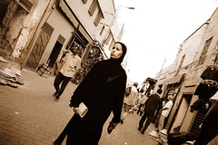 19 ( ) Tags: street woman black hijab morocco marrakech