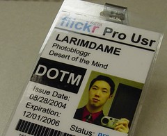 flickrID - Complete (LarimdaME) Tags: me flickrbadge flickr id loser humor larimdame idcard presspass flickrid