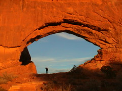EyeOfDragonArchesUtah (ACreepingMalaise) Tags: red orange eye rock utah photo perfect arch arches themerock
