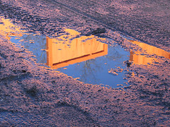 mudandgates (Semblables) Tags: gatesmemory thegates christo jeanneclaude centralpark reflection mud