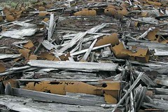 WWII Bombs in crates, Aleutians (Aleutian Fox) Tags: topv111 alaska islands top20decay war wwii uxo unexploded aleutian ordnance aleutians