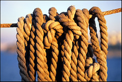 Give Em' Enough Rope (richardault) Tags: ferry rope greece thira  rpacom