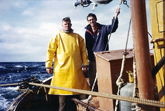 Phillip, off Orkney 1963 (PhillipC) Tags: ocean 1025fav work scotland fishing orkney ship topv1111 fishingboat trawler pcapper 1963 deckhand 1111v11f pentlandfirth 2000v10f