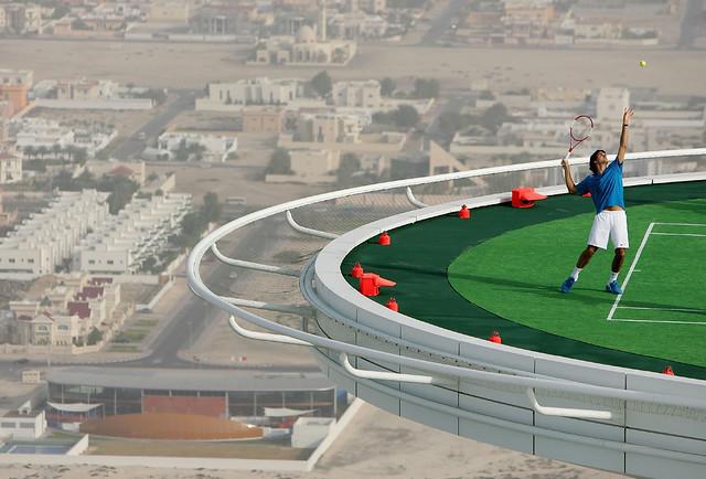 Burj Al Arab: Tenis de altura en Dubai