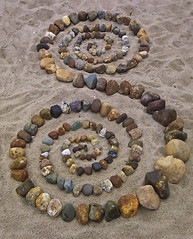 double spiral......serpent (neonlike) Tags: beach spiral sand stones double serpent naturalart pagan utatacollection bigprojectfave