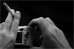 the dark side of snapshot (BlueBreeze) Tags: camera blackandwhite 2004 hands nikon d70 snapshot karlsruhe dasfest thebiggestgroup