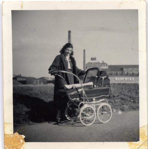 Mum and a pram