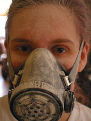 Cinnamon sanding (Andrew Huff) Tags: cinnamon dusty mask
