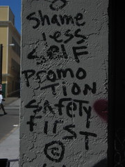Shameless Self Promotion Safety First graffiti