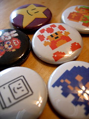 Geek Buttons (courtneyp) Tags: buttons crafts gaming mac