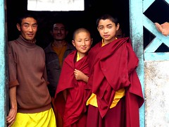Monks, north Sikkim