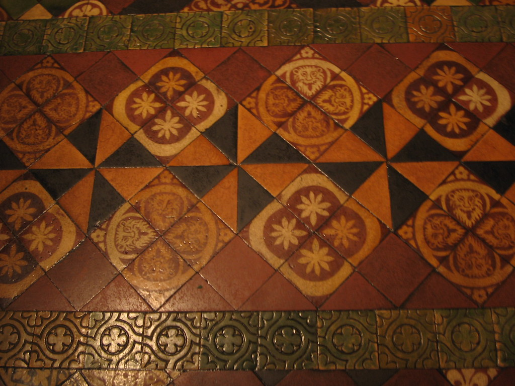 floor tiles, Christ Church, Dublin