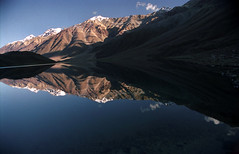 A Perfect Reflection (BoazImages) Tags: blue india lake snow mountains reflection topf25 topv111 mirror scenery 500v20f top20landscape himalaya