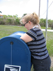 Jane comitting mail theft (extraspecial) Tags: naples florida holiday travel everglades smallest postoffice jane stealing