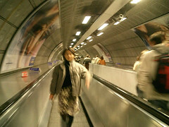 futuristic!! (miumomo) Tags: 2005 uk london escalator tube futuristic