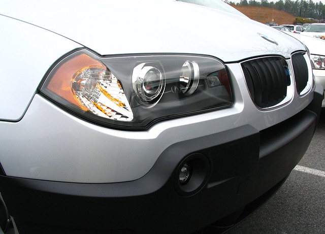 car bmw x3 suv headlight