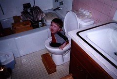 sad potty pic (massdistraction) Tags: qualitychildcare littleman toilet potty stuck fellin sad miserable toddler embarrassing feetfirst daycare childcare loo hell hellfires burningfiresofhell toilethumor
