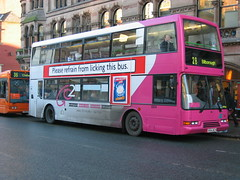 pink (djp3000) Tags: bus pink nottingham nct nottinghamcitytransport 28 buses