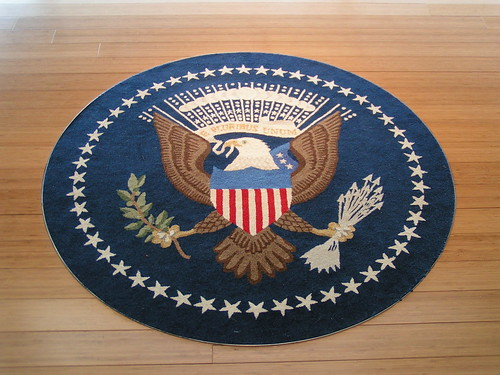 Carpet @ Oval Office Library @ Clinton Presidential Museum