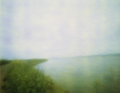 Alviso Bay (erin_designr) Tags: 2005 landscape polaroid pinhole ethereal alviso zoneplate type79 colorlandscapes sfchronicle96hrs californiaimpressions