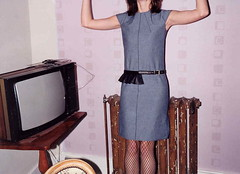 Television and Denim Dress (kingkingy) Tags: denim skirt television psfk london trag mycooljeans