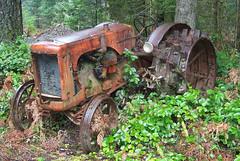 Tractor near Concrete, Washington (artandscience) Tags: tractor concrete ancienttractor