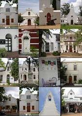 Dorp Street Doorways (RobW_) Tags: 2004 collage architecture southafrica doors january montage jan2004 stellenbosch nationalmonument doorways westerncape capedutch dorpstreet
