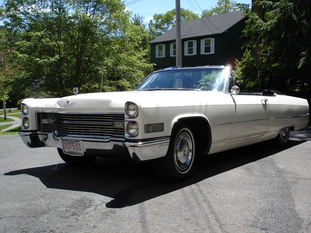 1966 cadillac deville convertible auto car classic white