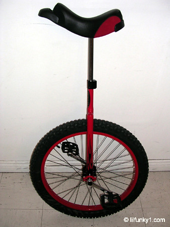 Reader's Rides - Angela's 2005 Bedford Cross-Country/Mountain Unicycle hybrid.
