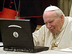 John Paul II (Howdy, I'm H. Michael Karshis) Tags: pope church john paul blog god surfing online mass hmk juanpabloii