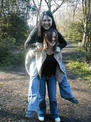Piggy back (gracey baby) Tags: mycooljeans england psfk keelewoods uk