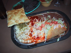happy meal (mikehalby) Tags: vacation food newmexico santafe sopapilla tomasitas posole