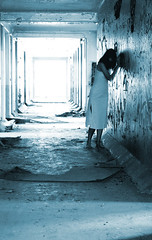 wandering down the hallway (Jaybert) Tags: hallway whitby psychiatric hospital crazy jenni