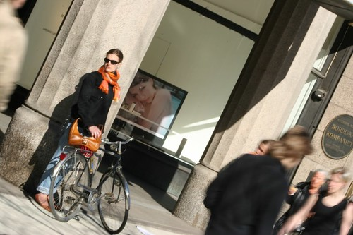 Lady with Bike, Waiting