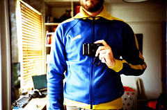 me in the mirror #3 (lomokev) Tags: blue england selfportrait me fashion mirror lomo lca xpro lomography crossprocessed xprocess mirrorproject brighton kevin lomolca jeans meredith puma agfa jessops100asaslidefilm agfaprecisa tracksuit lomograph portrate lomokev kevinmeredith addidas agfaprecisa100 cruzando selfportrate psfk mycooljeans lomo0405213 precisa jessopsslidefilm flickr:user=lomokev